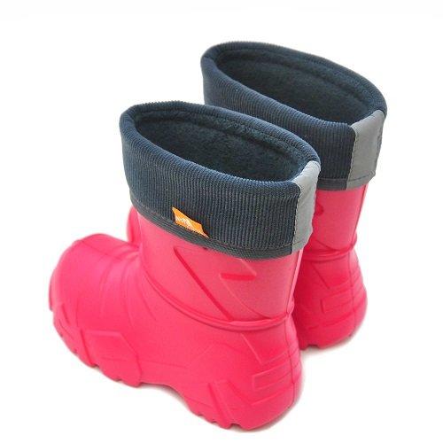 Детские сапоги ЭВА Nordman Kids с флисовым утеплителем красные