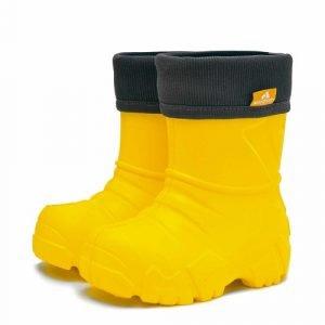 Детские сапоги ЭВА Nordman Kids с флисовым утеплителем желтые
