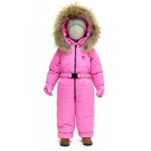 Зимний комбинезон с рукавицами PIKOLINO BY-M+L розовый 86-128