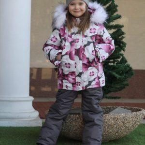 Зимний комплект для девочки Lapland цветы 98-116