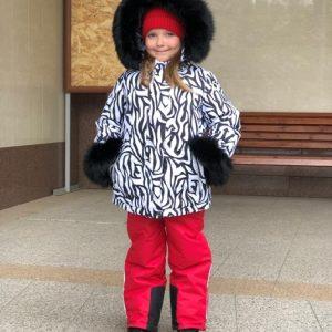 Зимний комплект для девочки Lapland узоры 110-134