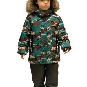 Зимний комплект для мальчика Lapland милитари 86-128