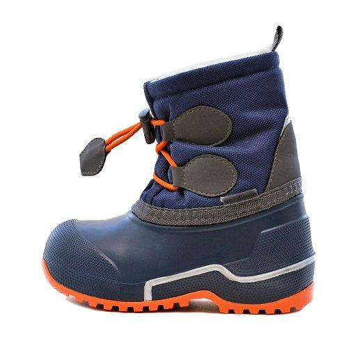 Детские сноубутсы Nordman Cross с мехом синий/оранжевый