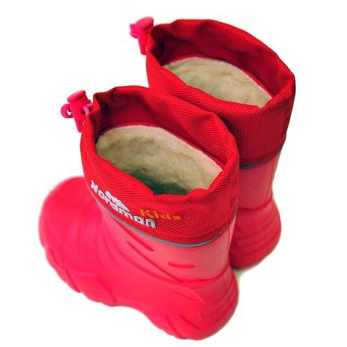 Детские сапоги ЭВА Nordman Kids со съемным мехом красные