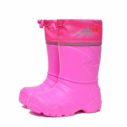 Детские сапоги ЭВА Nordman Kids со съемным мехом розовые