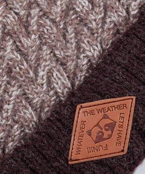 Зимняя шапка детская Cz-179 коричневая