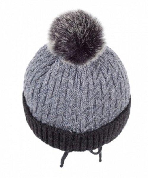Зимняя шапка детская Cz-179 серая
