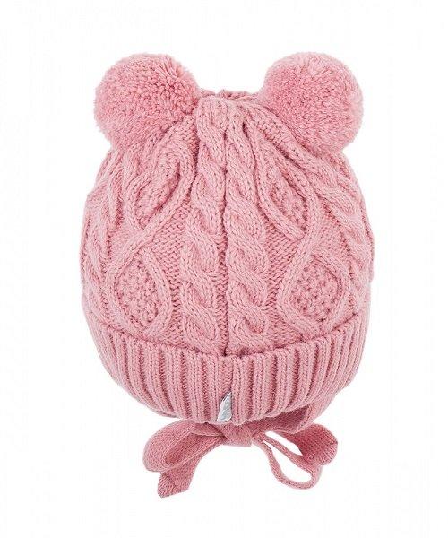 Зимняя шапка детская Cz-171 т/розовая