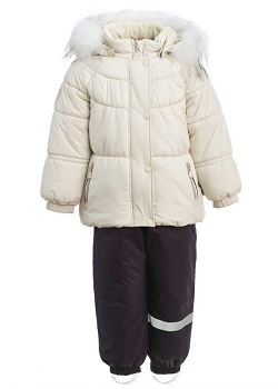 Зимний костюм для девочки KISU 80-98 молочный