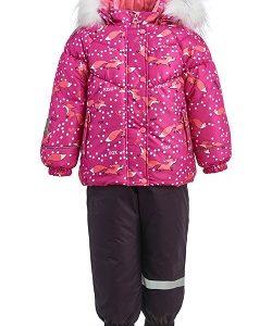 Зимний костюм для девочки KISU 86 фуксия