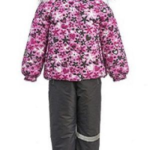 Зимний костюм для девочки KISU 80-98 розовый