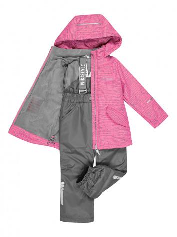 Демисезонный комплект NIKASTYLE 92-116 розовый