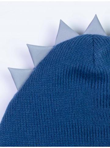 Шапка-шлем детская Дракон синий