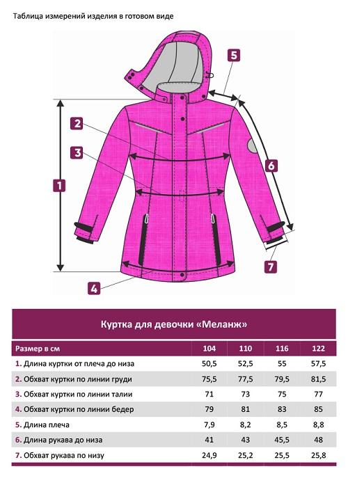 Демисезонная куртка для девочки UKI kids 104-122