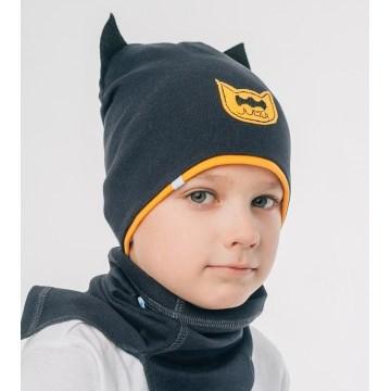 Шапка трикотажная для мальчика Бэтмен