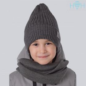 Шапка для мальчика HOHLOON темно-серый