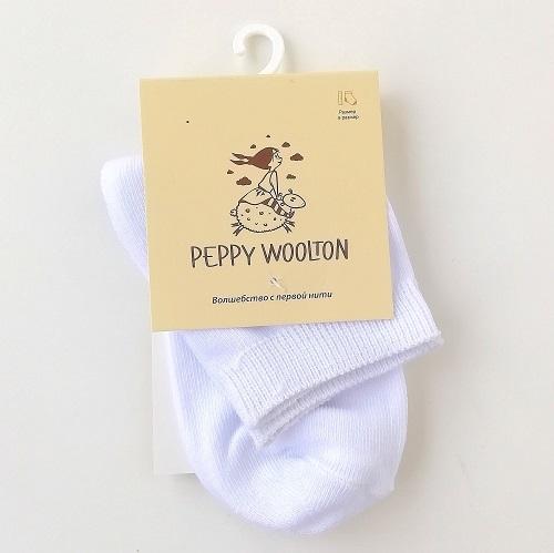 Носки детские Peppy Woolton белые