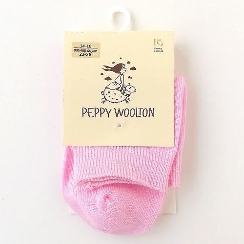 Носки детские Peppy Woolton розовые