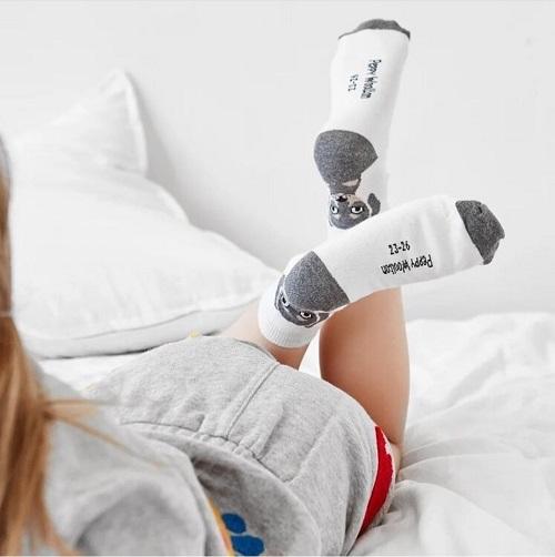 Носки детские Peppy Woolton цвет молочный