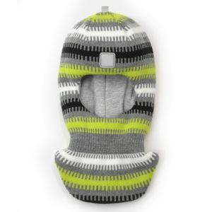 Шапка шлем Artel зима серый черный