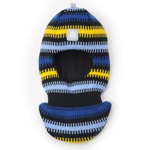 Шапка шлем Artel зима синий желтый