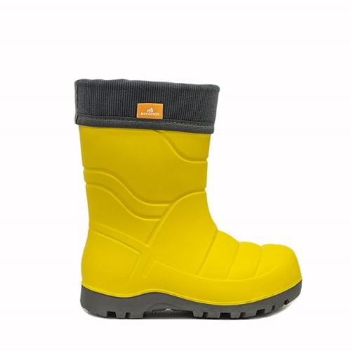 Сапоги детские Nordman Flash со съемным флисовым утеплителем жёлтые