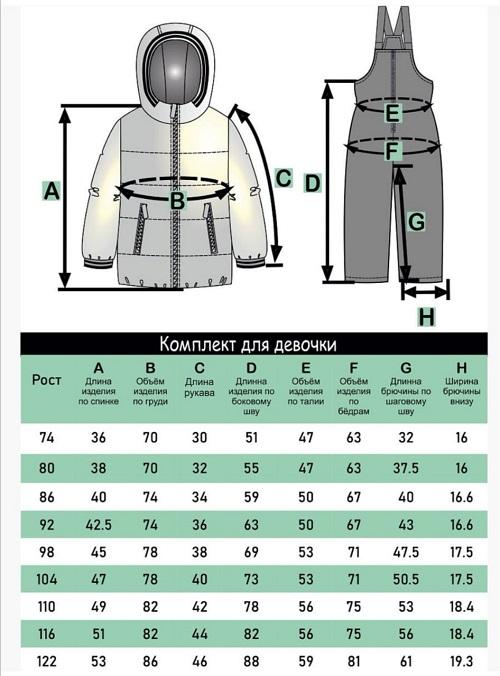 Комплект для девочки ЭЛЯ 92-122