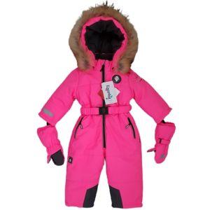 Зимний комбинезон Даймонд 86-122 неон розовый